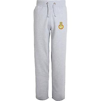 Army Cadet Force - Licensed British Army Embroidered Open Hem Sweatpants / Jogging Bottoms