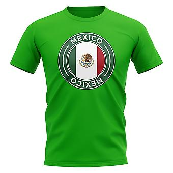 T-Shirt con distintivo di calcio messicano (verde)