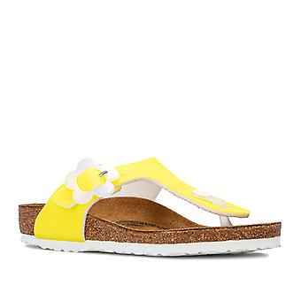 Children Girls Birkenstock Gizeh BF Sandals in Yellow