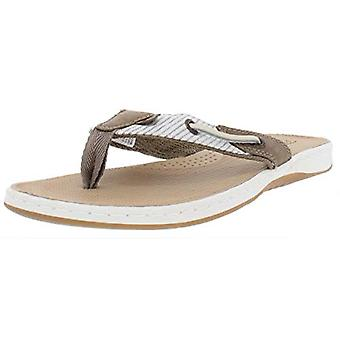 SPERRY Womens Seafish Leather Flat Thong Sandals