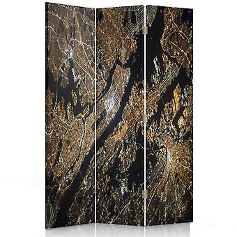 Room Divider, 3 Panels, Double-Sided, 360 ° Rotatable, Canvas, Satellite Image
