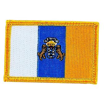 Patch Ecusson Brode Canary Bandiera Canarias Thermocollant Insigne Blason