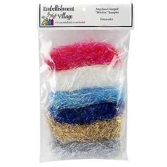 Angelina Crimped Cut Fibers .1 Ounce 6 Pkg Fire Blend Agfire