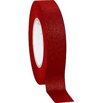 Cloth tape Coroplast Red (L x W) 10 m x 19 mm Natural rubber Content: 1 Rolls