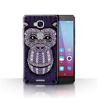 STUFF4 Case/Cover for Huawei Honor 5X/GR5/Monkey-Purple/Aztec Animal