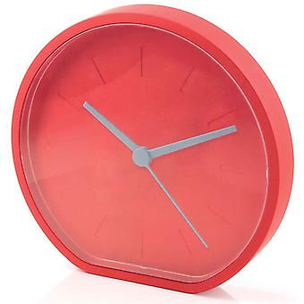 Warm Red Lexon Side Clock