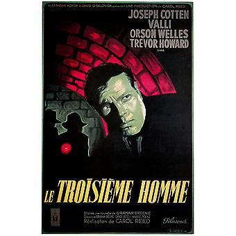 Le Troisieme Homme Orson Welles 1949 Movie Poster stampa di alta qualità