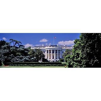 Facade af regeringsbygning hvide hus Washington DC USA plakat Print (8 x 10)