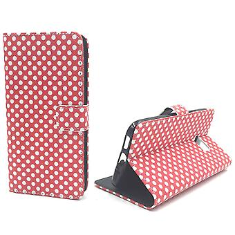 Mobile phone case pouch for mobile HTC 10 polka dot Red
