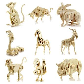Cladellas  Animales Madera 6 Mod.