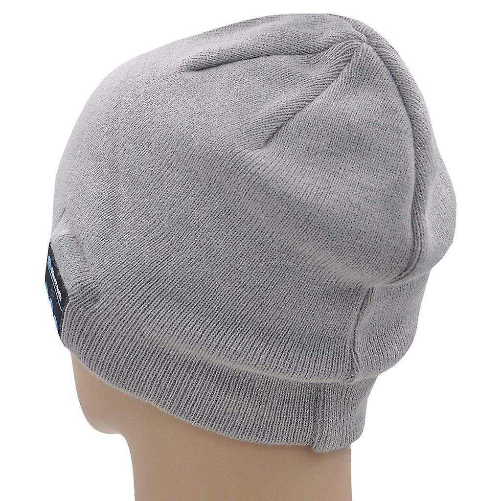 ONX3 Lenovo A606 (grigio chiaro) Unisex Taglia unica inverno Bluetooth Beanie cappello con built-in altoparlante Stereo senza fili cuffie