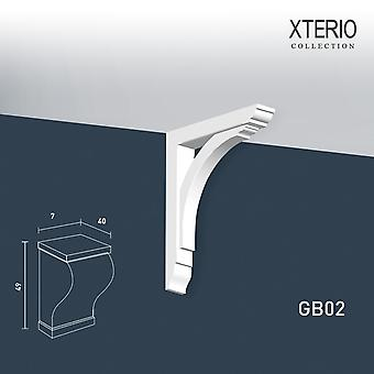 White console ORAC decor GB02 XTERIO wall bracket for canopy Zierlement timeless classic design