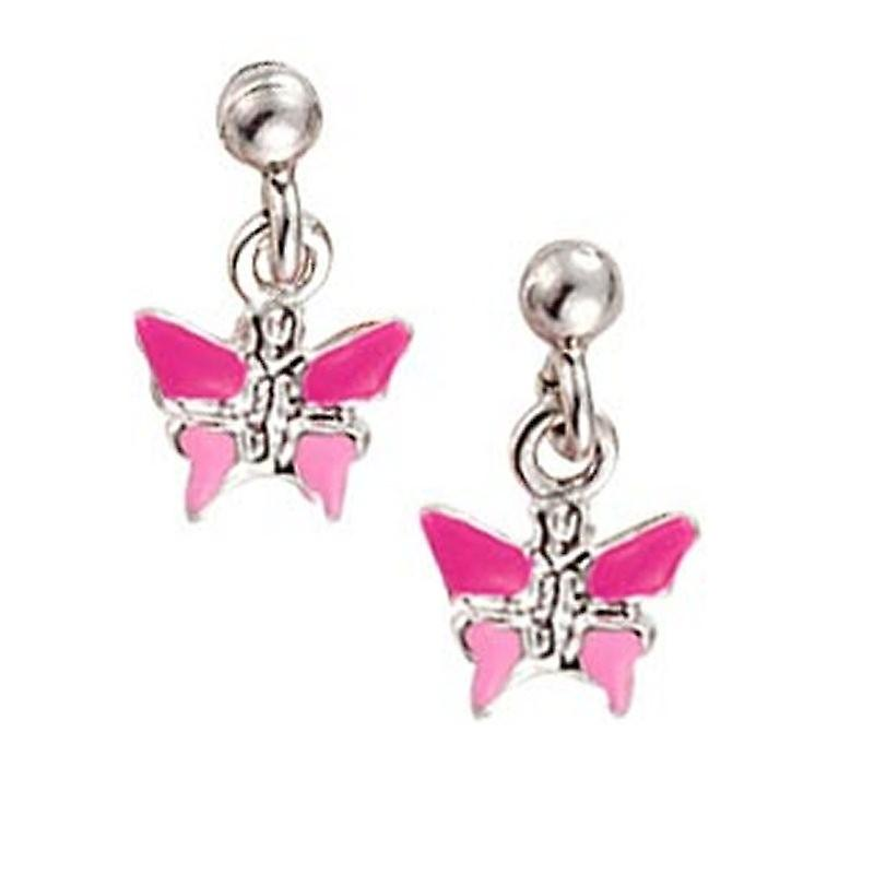 Scout Children earrings pierced earrings silver butterfly pink girl 262113100