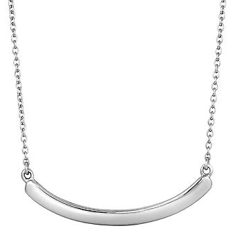 Sterling Silver Curve Bar Necklace, 18
