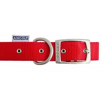 Heritage Nylon Collar Red 15mm X36-46cm