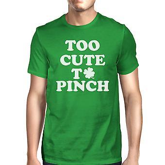 Te leuk om te knijpen mannen groene T-shirt grappige Patrick is dag Shirt