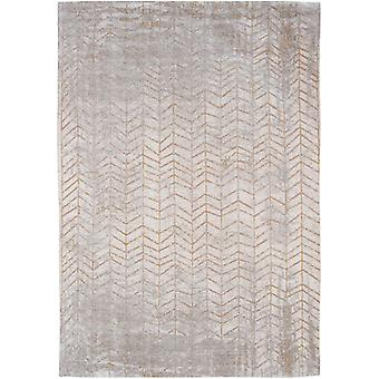 Modern Distressed Central Yellow Chevron Rug - Louis De Poortere