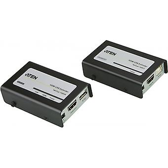 ATHENS HDMI and USB Extender over Ethernet, 3D, 60 m, HDCP, black