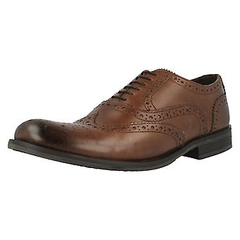 Mens Base London Brogue Shoes Walnut MTO