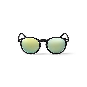 Cheapo Mavericks Sunglasses - Black / Green Yellow Mirror