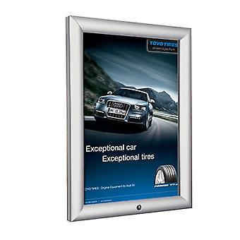 A4 Lockable Silver Snap Frame