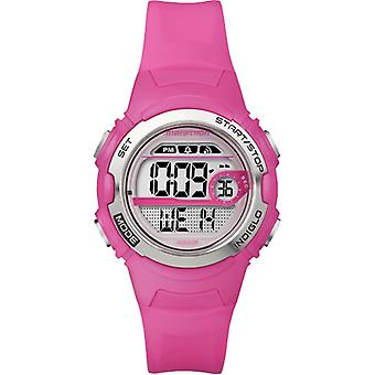 Timex Childrens Quartz Watch with LCD Dial Digital Display and Resin Strap Pink