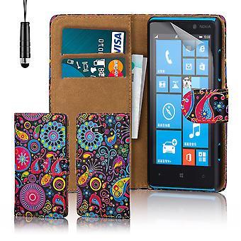 Ontwerp van PU lederen case boekomslag voor Nokia Lumia 820 - kwal