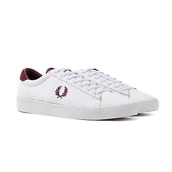 Fred Perry Spencer Mesh White & Maroon Trainers
