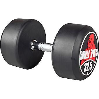 Rundhantel Schwarz/Rot 32,5 kg