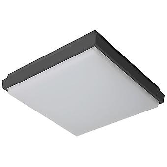 Sulion Square Fogfix ceiling lamp 9W Ip54 Gray