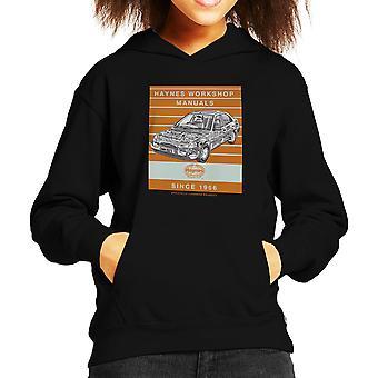 Haynes Workshop Manual 1923 Ford Mondeo Stripe Kid's Hooded Sweatshirt