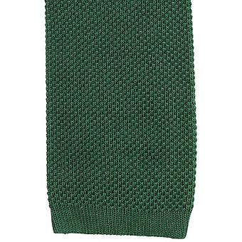 KJ Beckett Plain Cotton Tie - Green