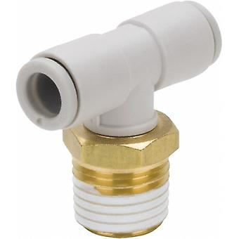 SMC Pneumatic Tee Threaded-To-Tube Adapter, M5 X 0.8 X 6Mm X 6Mm