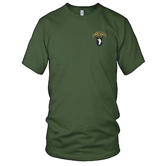 US Army - 101st Airborne Division 506th Airborne Infantry Regiment 2nd Battalion Recon Embroidered Patch - Mens T Shirt