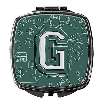 Carolines Treasures  CJ2010-GSCM Letter G Back to School Initial Compact Mirror