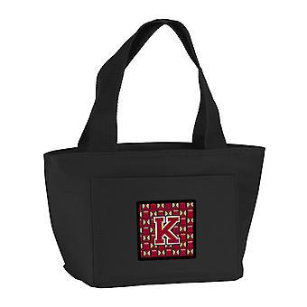 Carolines Treasures  CJ1078-KBK-8808 Letter K Football Garnet and Gold Lunch Bag