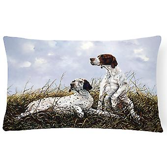 English Pointer by Michael Herring Fabric Decorative Pillow
