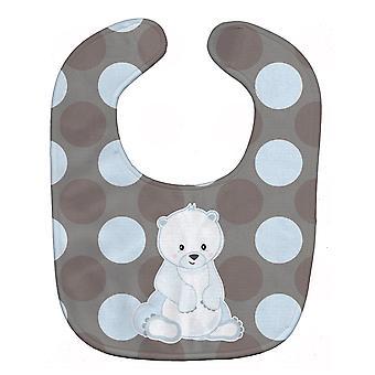 Carolines aarteita BB8601BIB karhu Polkadots vauvan ruokalappu