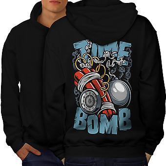 Bomba de tiempo estalla moda hombres BlackHoodie espalda | Wellcoda