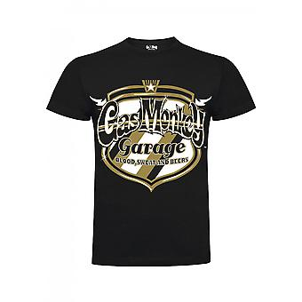 Gas monkey garage T-Shirt Texan Gold Badge