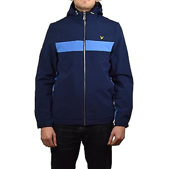 Lyle & Scott con capucha chaqueta de Softshell Color Block (Armada)