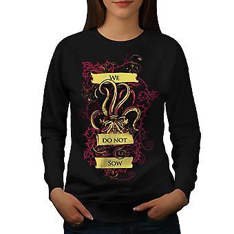 Vi ikke purke kul slagord kvinner BlackSweatshirt | Wellcoda