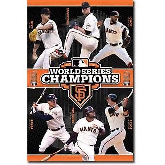Impresión de Poster de serie mundial San Francisco gigantes (24 X 36)