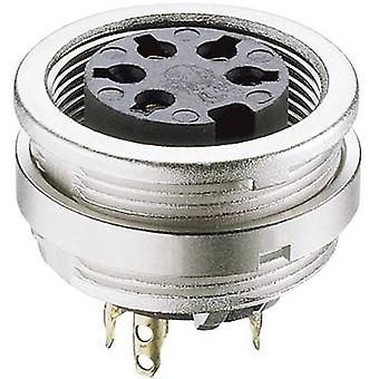 DIN connector Socket, vertical vertical Number of pins: 7 Silver Lumberg KFV 70 1 pc(s)