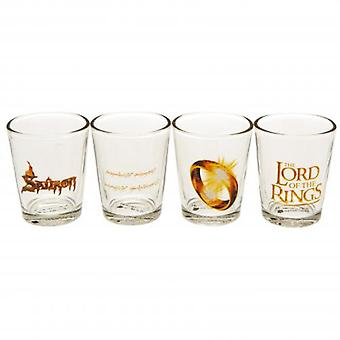 The Lord Of The Rings 4pk Shot Glass Set