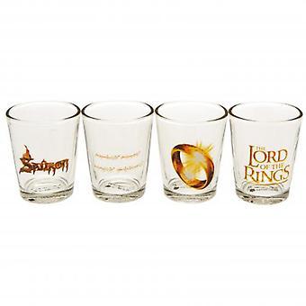 Lord Of Rings 4pk Shot glas sæt