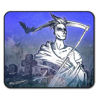 Grim Reaper Cool  Non-Slip Mouse Mat Pad 24cm x 20cm | Wellcoda