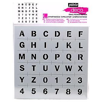 Pebeo Deco Stencil 15 x 15cm - Capital Alphabet