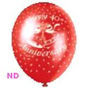 Ballonnen 'Gelukkige 40e verjaardag' rode 9