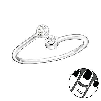 Round - 925 Sterling Silver Midi Rings